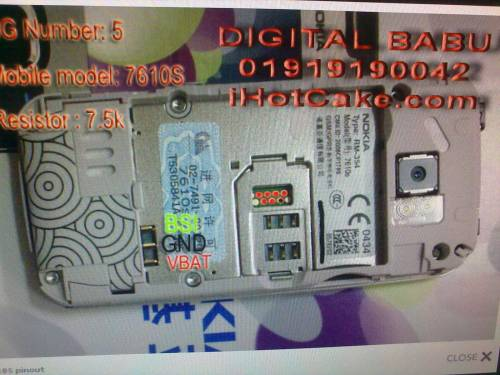 Pin out nokia 7610s