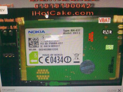 Pin out nokia E63